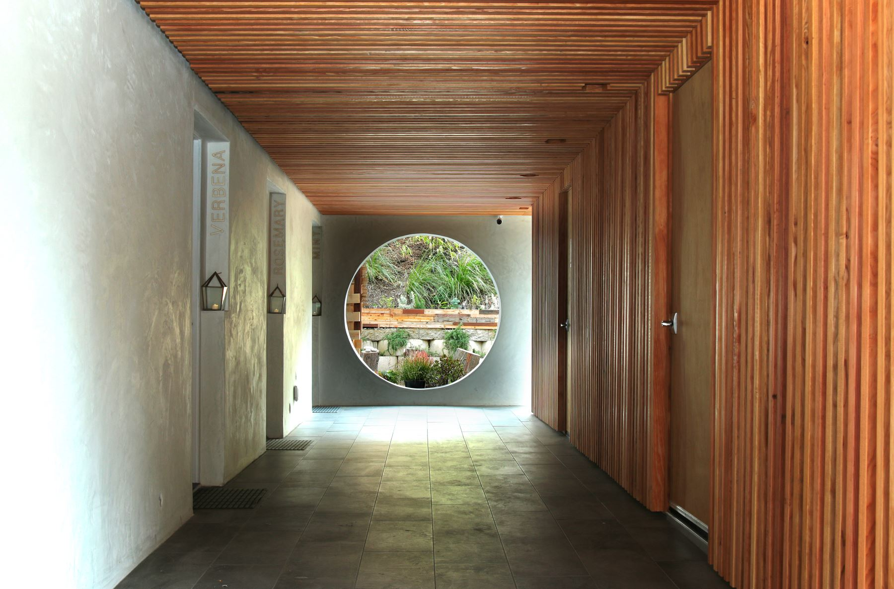 view of the hallway at inn at moonlight beach