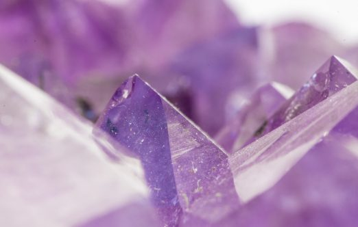 Beautiful Amethyst Crystal Close Up Macro