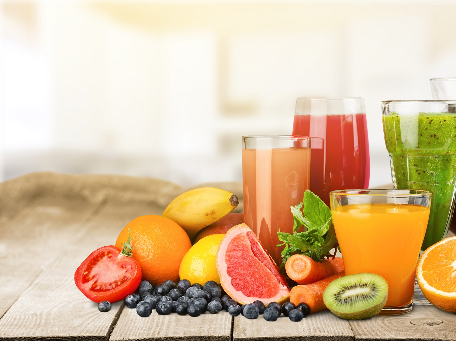 fruits and juices