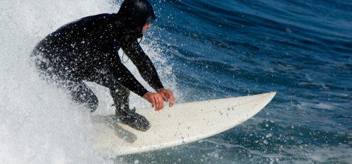 Man practicing Encinitas, CA, Surfing