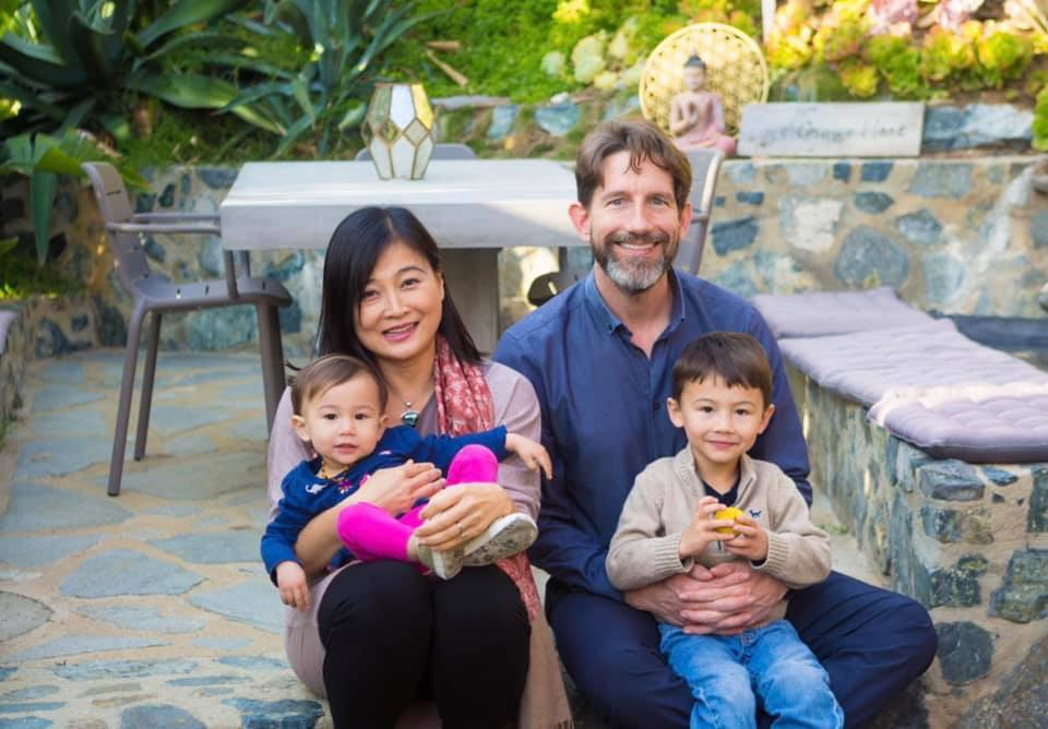 Shangwen, Mike, and their two children