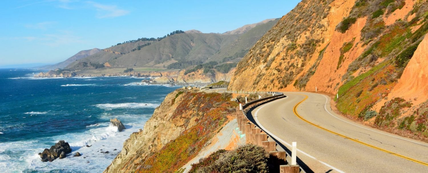 Highway 101 or Highway 1 in California near Big Sur