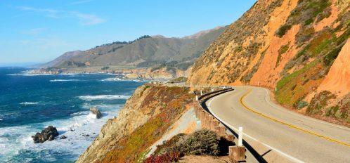 Highway 101 or Highway 1 in California near Big Sur