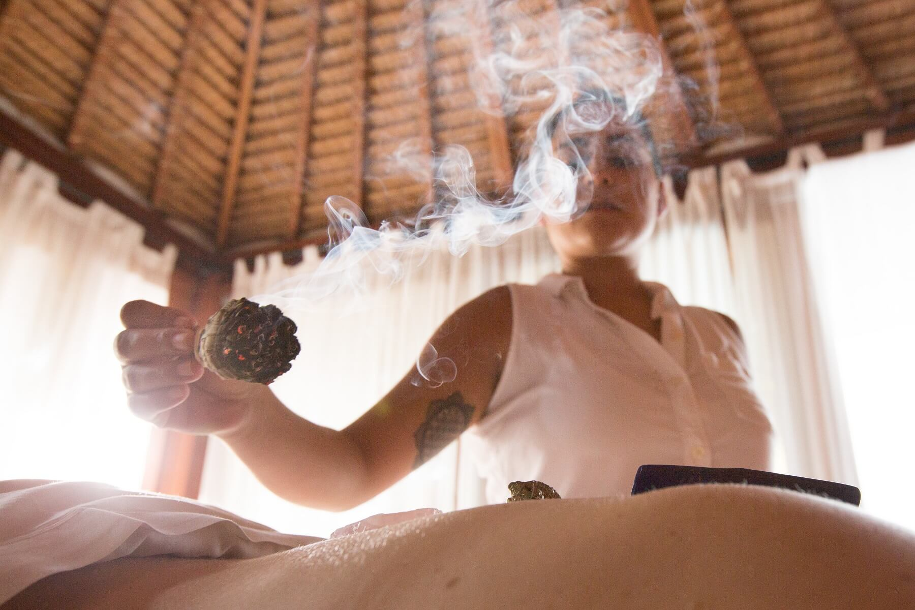 smoke and massage