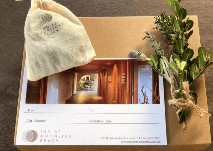 inn at moonlight beach gift box