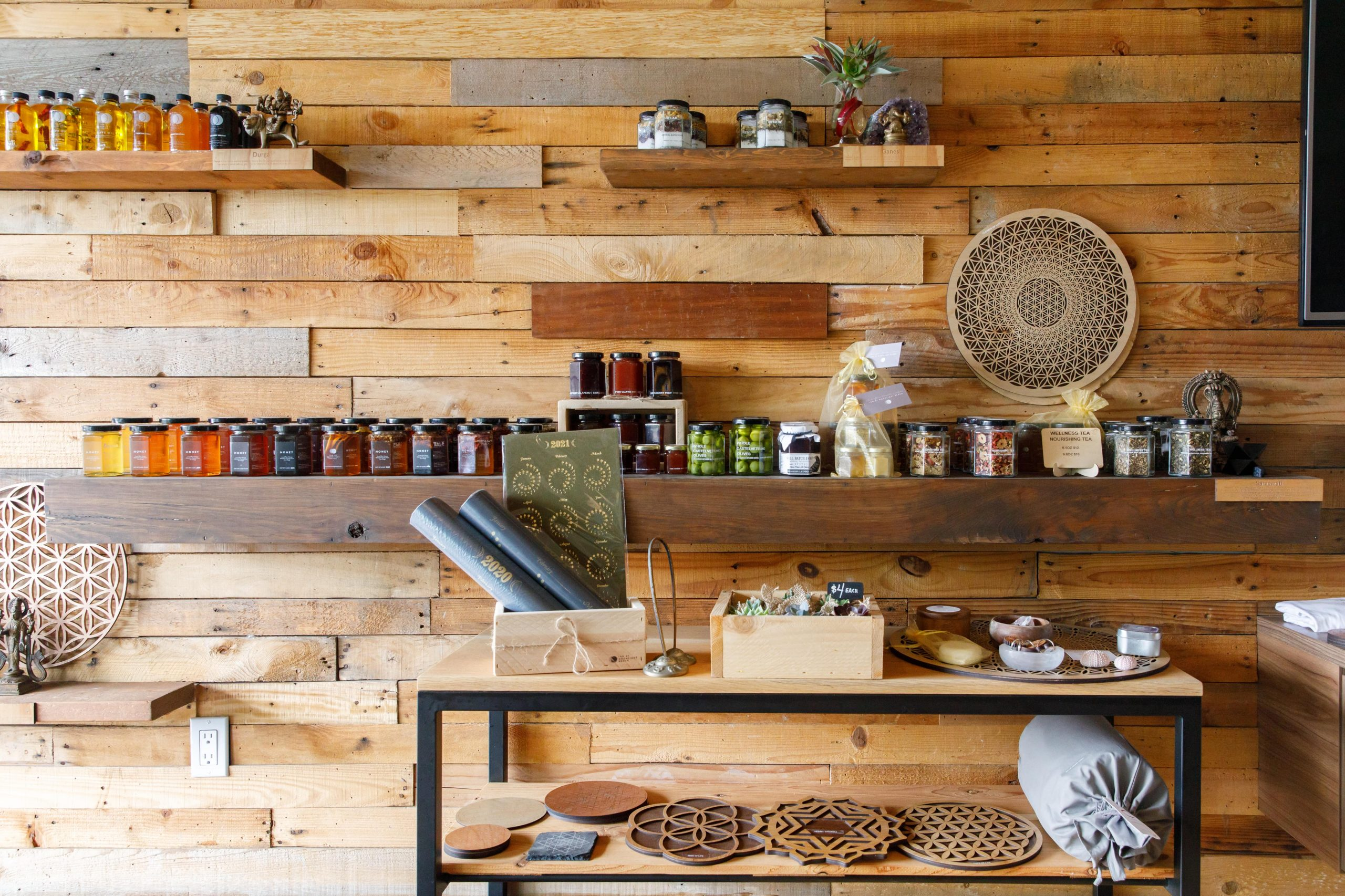 Honey and spice rack