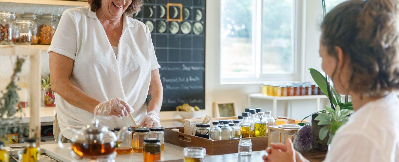Honey and oil bottling