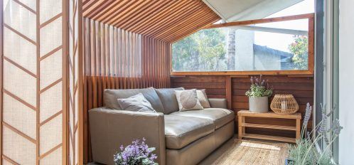 Sunroom and couch